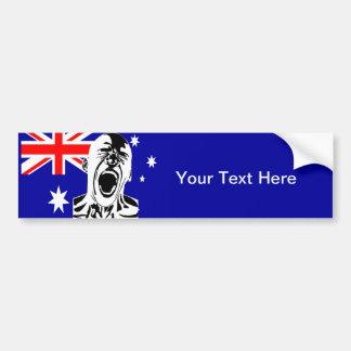 Screaming Man Australia Car Bumper Sticker