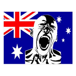 Screaming Man Australia Postcard