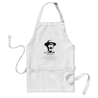 screaming man with definition adult apron
