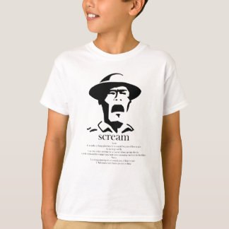 screaming man with definition T-Shirt