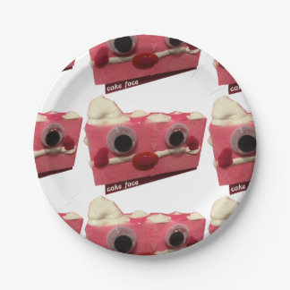 Screaming Pink Lady Cake Face Paper Plates