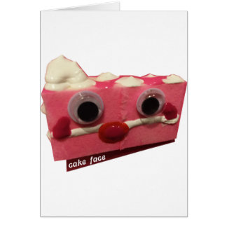 screaming pink lady cake face with logo card