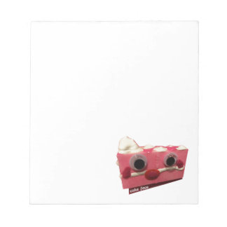 screaming pink lady cake face with logo notepad