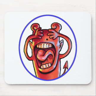 Screaming Red Devil Mouse Pad