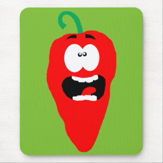 Screaming Red Hot Chili Pepper Mouse Pad