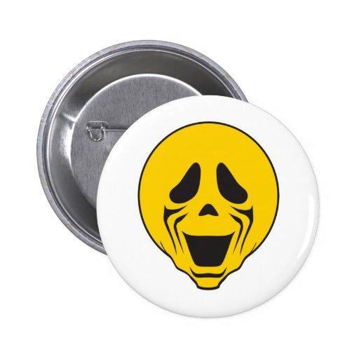 Screaming Scream Smiley Face Button