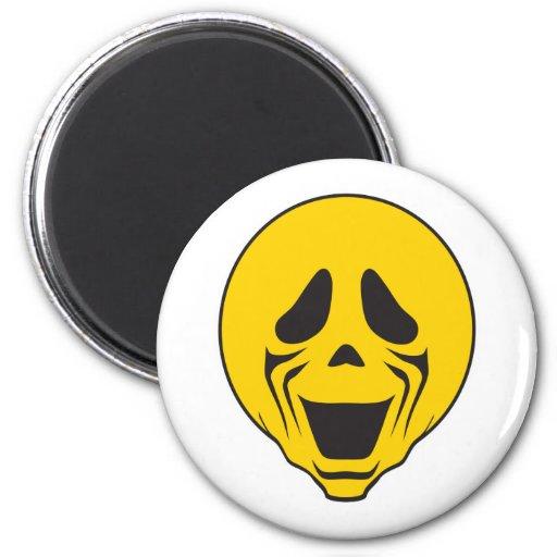 Screaming Scream Smiley Face Fridge Magnets