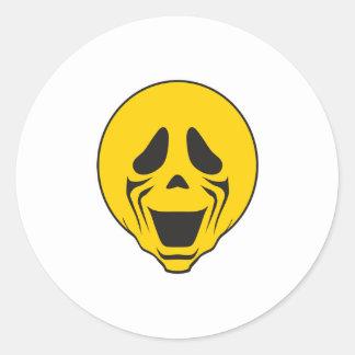 Screaming Scream Smiley Face Sticker