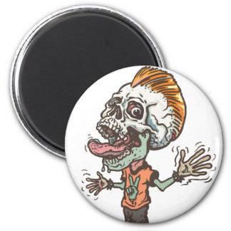 Screaming Skull Boy Magnet