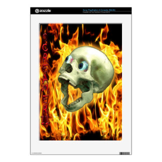 Screaming Skull & Flames Playstation 3 Skin Skins For PS3 Console