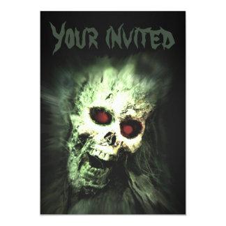 "Screaming Skull Halloween Party Invitations 5"" X 7"" Invitation Card"