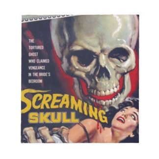 Screaming Skull Notepad