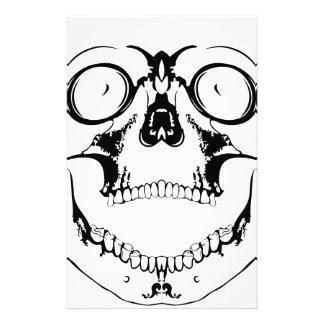 screaming skull custom stationery