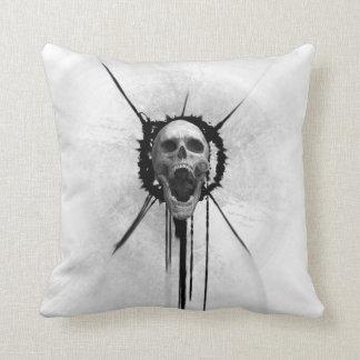 Screaming Skull (White) Cushion