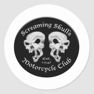 Screaming Skulls Motorcycle Club Classic Round Sticker