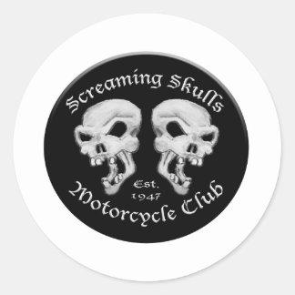 Screaming Skulls Motorcycle Club Classic Round Sticker