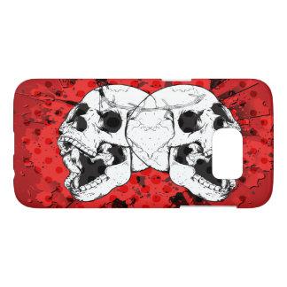 Screaming Skulls on Blood Red Samsung Galaxy S7 Case