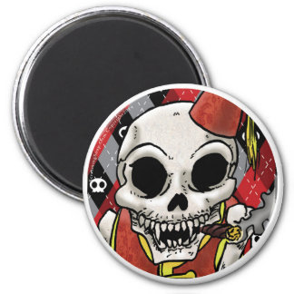SCREAMING SOUP! Funnybone Round Magnet