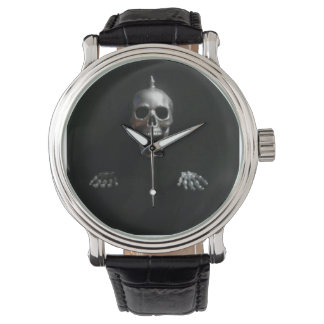 Screaming Spike Skull and Hands by KLM Wrist Watch