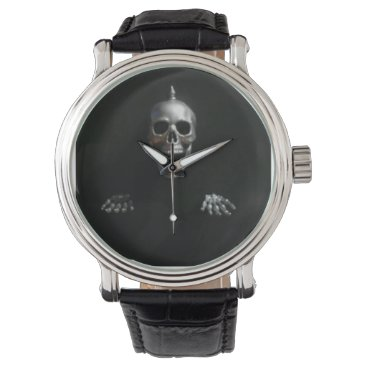 Kenny42077 Screaming Spike Skull and Hands by KLM Wrist Watch