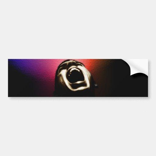 Screaming sticker car bumper sticker
