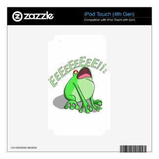 Screaming Tree Frog Doodle Noodle Design iPod Touch 4G Skins