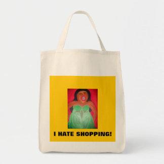 Screaming woman tote bag