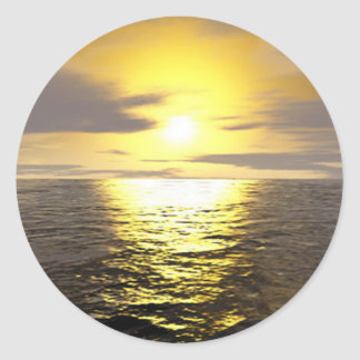 Screaming Yellow Sunset Sticker
