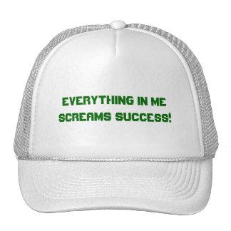 SCREAMS SUCCESS HAT