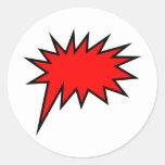 Screech Balloon Classic Round Sticker