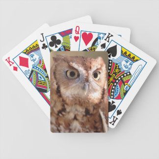 screech owl bicycle playing cards