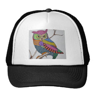 Screech Owl bold color Trucker Hat
