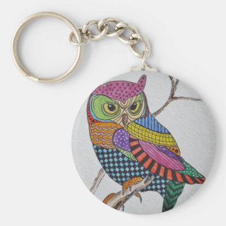 Screech Owl bold color Keychain