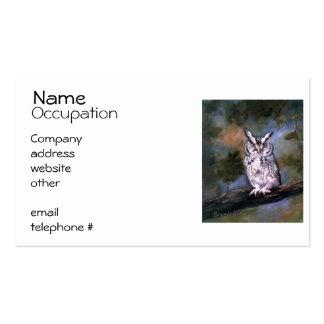 Screech Owl Business Card