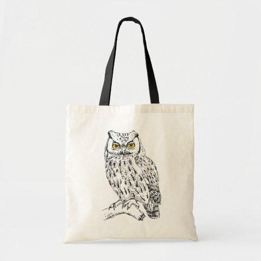Screech Owl Canvas Bag