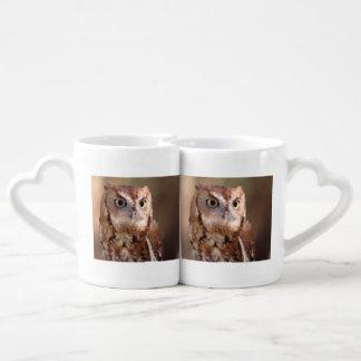 screech owl coffee mug set