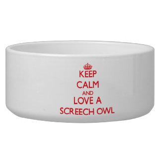 Screech Owl Dog Water Bowl