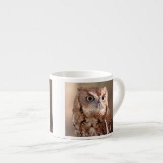screech owl espresso cup