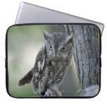 Screech Owl in a Tree laptop sleeve
