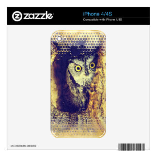 SCREECH OWL iPhone Skin Decals For The iPhone 4