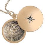 Screech Owl Locket Necklace