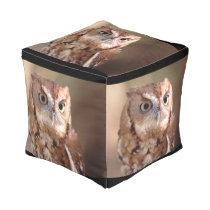 screech owl pouf