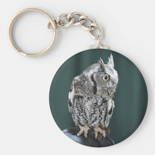 Screech Owl Profile keychain