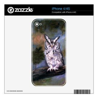 Screech Owl Skin Skins For iPhone 4