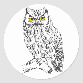 Screech Owl Sticker