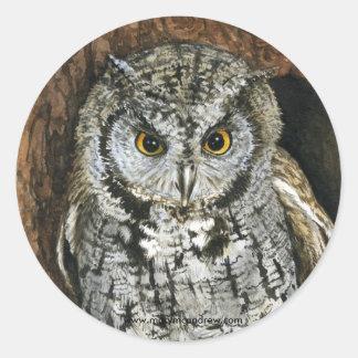 """Screech Owl"" stickers"