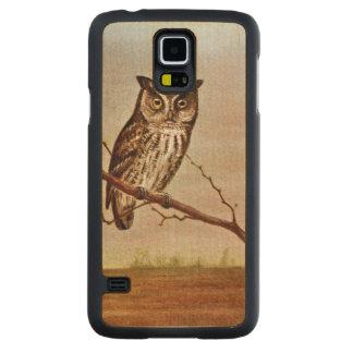 Screech Owl Vintage Illustration Carved® Maple Galaxy S5 Slim Case