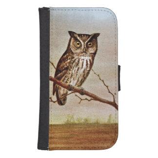 Screech Owl Vintage Illustration Samsung S4 Wallet Case