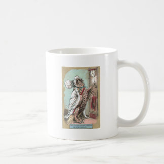 Screech Owl Waits for Late Hubby Coffee Mug