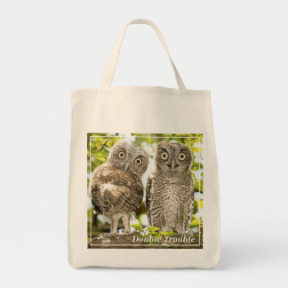 Screech Owls Chicks Canvas Bags